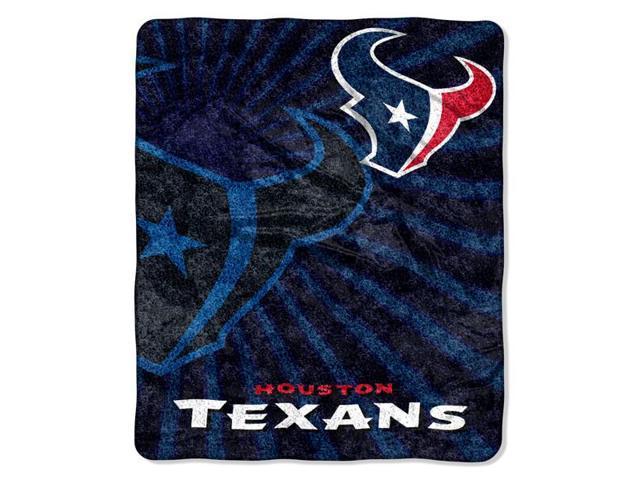 Northwest 1NFL-06501-0119-RET Strobe-Texans NFL Sherpa Throw 50x60
