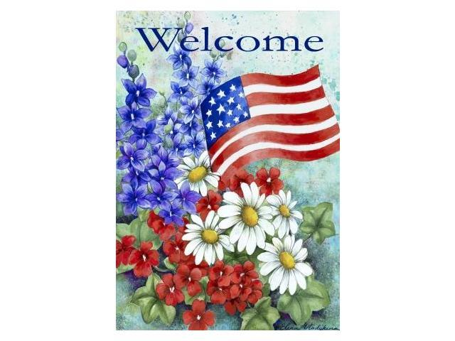 Toland Home And Garden Patriotic Welcome House Flag