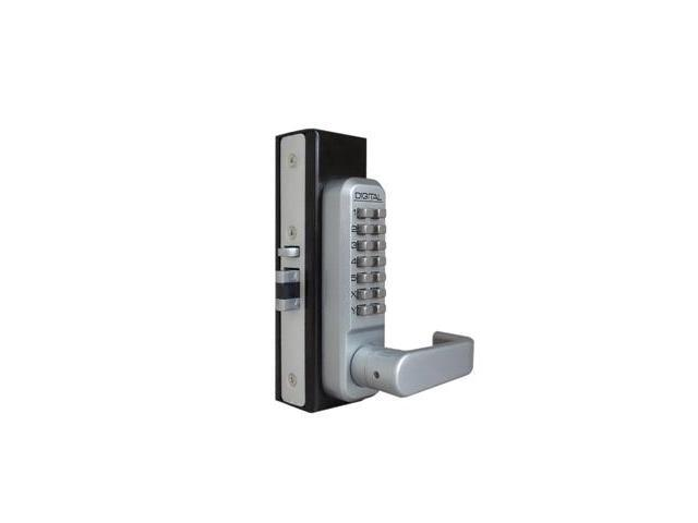 Lockey 2985-SC Mechanical Keyless Narrow Stile Lever Handle Lock With Passage Function - Satin Chrome