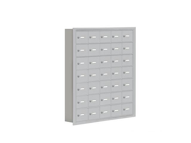 Salsbury 19075-35ARK Cell Phone Storage Locker 7 Door High Unit - 5 Inch Deep Compartments - 35 A Doors - Aluminum - Recessed Mounted - Master Keyed Locks