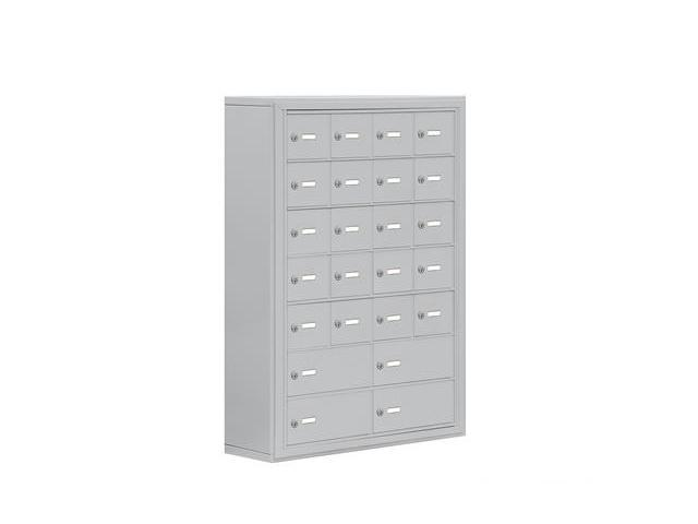 Salsbury 19078-24ASK Cell Phone Storage Locker 7 Door High Unit - 8 Inch Deep Compartments - 20 A Doors And 4 B Doors - Aluminum - Surface Mounted - Master Keyed Locks