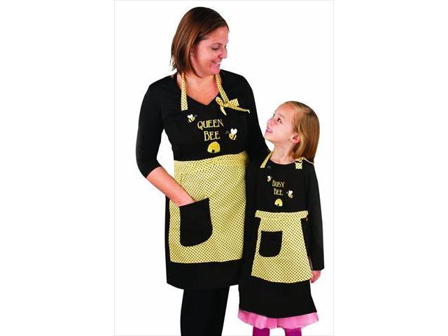 Manual Woodworkers and Weavers IOMSQB Queen Bee and Busy Bee Apron, Set Of 2, 24 X 30.5 in.