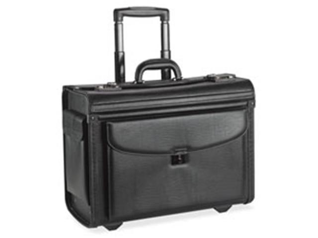 Lorell LLR61612 Rolling Laptop Catalog Case, 18 in. x 9 in. x 14 in., Black
