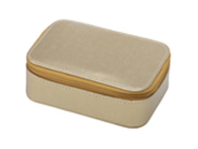PREMIUM CONNECTION 240-DLXJB Premium Deluxe Beige Jewelry Boxes - Case of 36