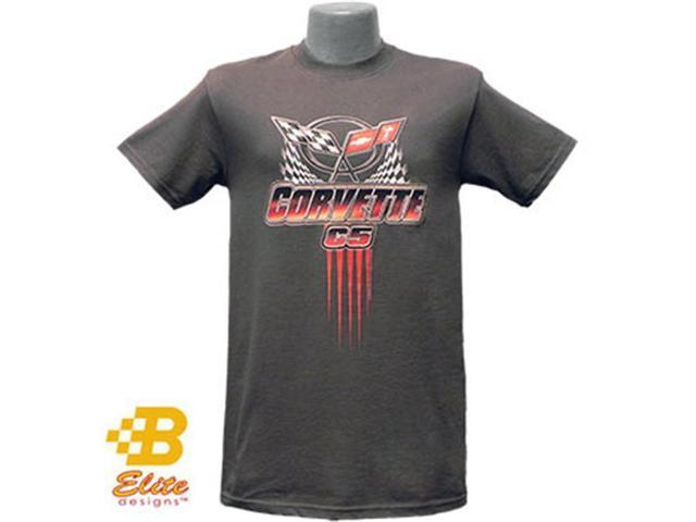 Brickels Racing Collectibles C5 Corvette Winners Logo Tee CHARCOAL- SMALL -BDC5ST197