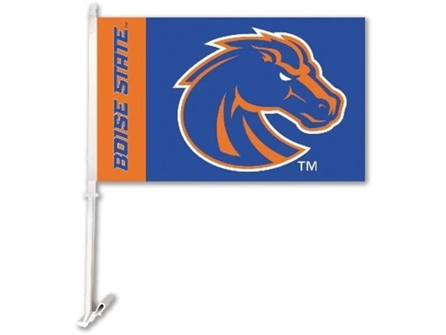 BSI PRODUCTS 97180 Car Flag with Wall Brackett - Boise State Broncos