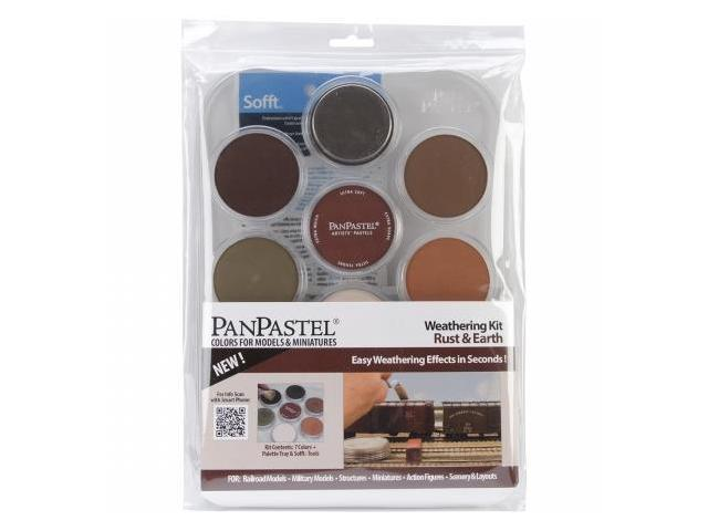 Colorfin PP30701 PanPastel Ultra Soft Artist Pastel Set 9ml 7-Pkg-Weathering-Rust And Earth