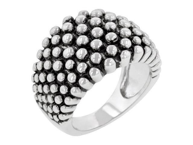 Kate Bissett R08047R-V00-07 Genuine Rhodium Plated Ring in  Silvertone- Size 7
