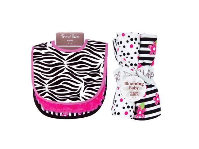 Trend Lab 20954 Zahara Bib and Burp Cloth Bouquet Set