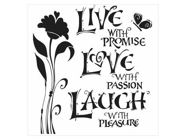 Crafters Workshop TCW6X6-467 Crafters Workshop Template 6 in. X6 in. -Live, Love & Laugh