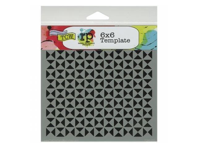 Crafters Workshop TCW6X6-429 Crafters Workshop Template 6 in. X6 in. -Hourglass