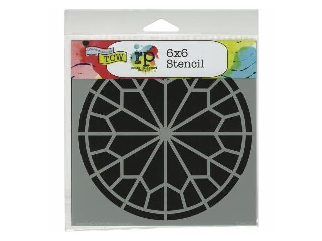 Crafters Workshop TCW6X6-432 Crafters Workshop Template 6 in. X6 in. -Rose Window