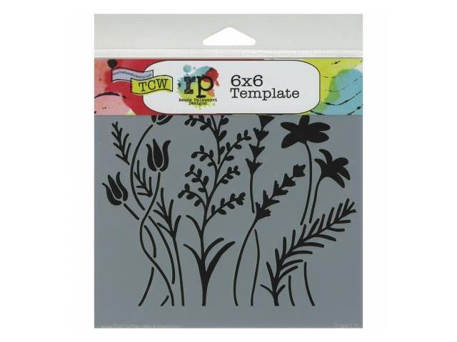 Crafters Workshop TCW6X6-433 Crafters Workshop Template 6 in. X6 in. -Wildflowers