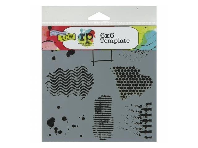 Crafters Workshop TCW6X6-437 Crafters Workshop Template 6 in. X6 in. -Texturized