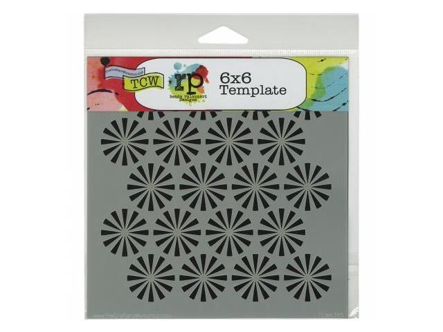 Crafters Workshop TCW6X6-439 Crafters Workshop Template 6 in. X6 in. -Retrobursts