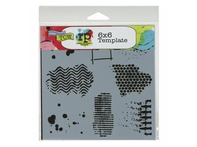Crafters Workshop TCW6X6-443 Crafters Workshop Template 6 in. X6 in. -Stick Flowers