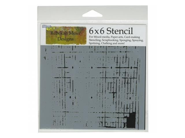 Crafters Workshop TCW6X6-456 Crafters Workshop Template 6 in. X6 in. -Sketch Grid