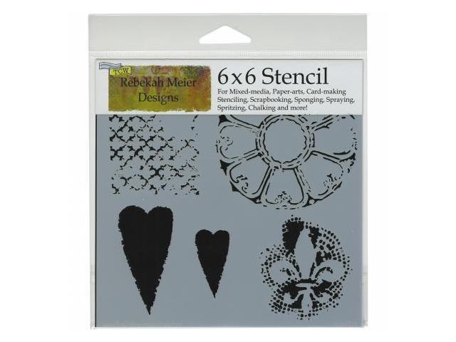 Crafters Workshop TCW6X6-457 Crafters Workshop Template 6 in. X6 in. -Gothic Romance