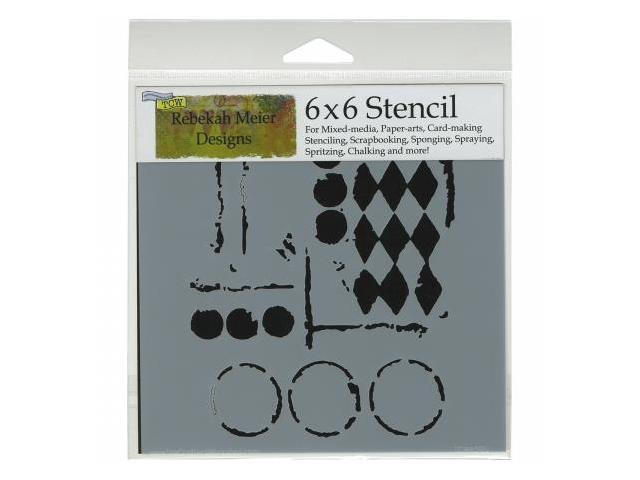 Crafters Workshop TCW6X6-459 Crafters Workshop Template 6 in. X6 in. -Harlequin Circles
