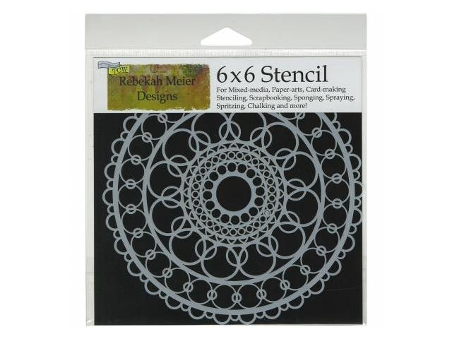 Crafters Workshop TCW6X6-460 Crafters Workshop Template 6 in. X6 in. -Ring Doily
