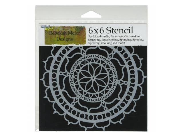 Crafters Workshop TCW6X6-461 Crafters Workshop Template 6 in. X6 in. -Rosetta