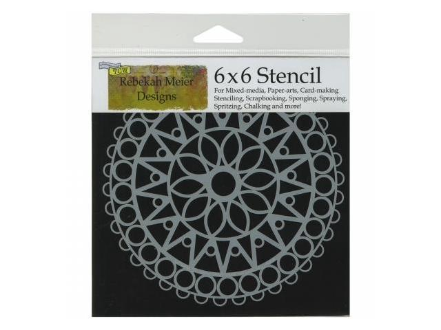 Crafters Workshop TCW6X6-462 Crafters Workshop Template 6 in. X6 in. -Stained Glass
