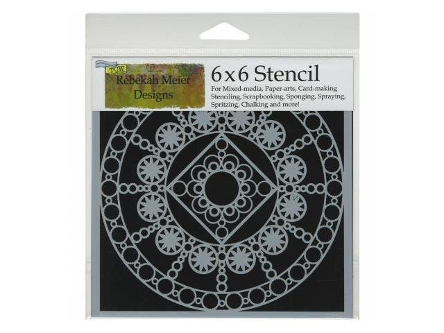 Crafters Workshop TCW6X6-463 Crafters Workshop Template 6 in. X6 in. -Byzantine