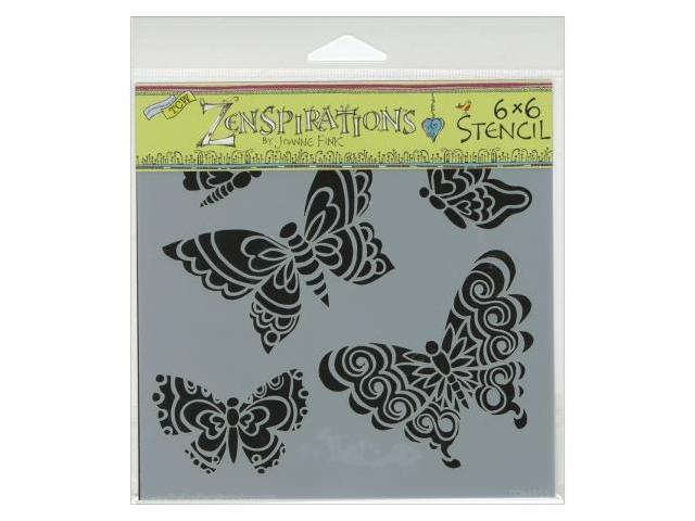 Crafters Workshop TCW6X6-465 Crafters Workshop Template 6 in. X6 in. -Sweet Butterflies