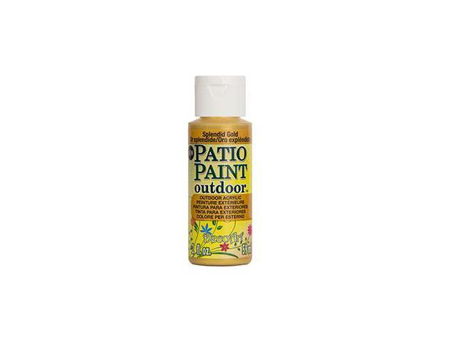 Deco Art DCP-84 Patio Paint 2oz-Splendid Gold