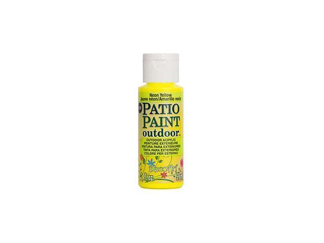 Deco Art DCP-88 Patio Paint 2oz-Neon Yellow