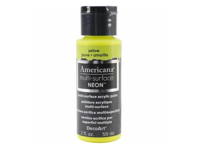 Deco Art DA-3-557 Americana Multi-Surface Neon 2oz-Yellow