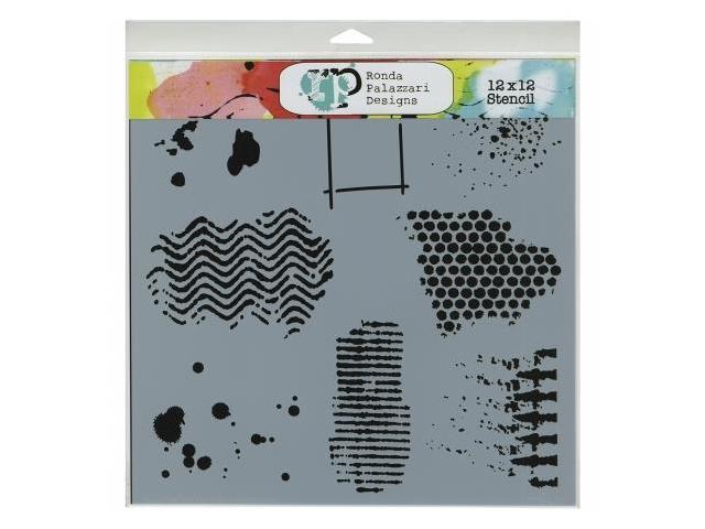 Crafters Workshop TCW-437 Crafters Workshop Template 12 in. X12 in. -Texturized