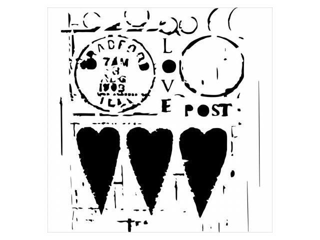 Crafters Workshop TCW-455 Crafters Workshop Template 12 in. X12 in. -Love Post