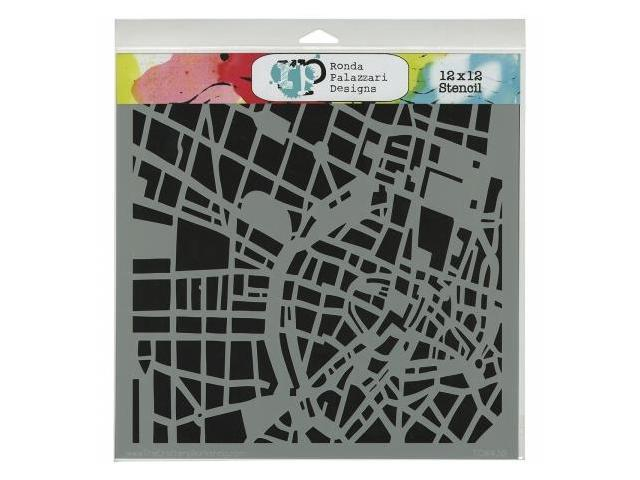 Crafters Workshop TCW-438 Crafters Workshop Template 12 in. X12 in. -City Grid