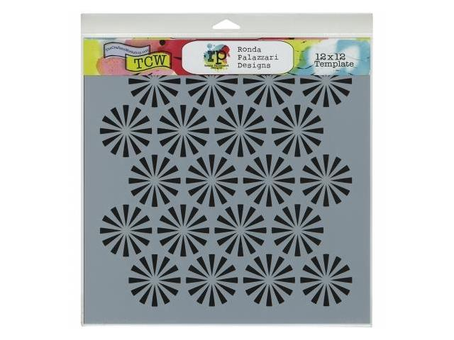 Crafters Workshop TCW-439 Crafters Workshop Template 12 in. X12 in. -Retrobursts