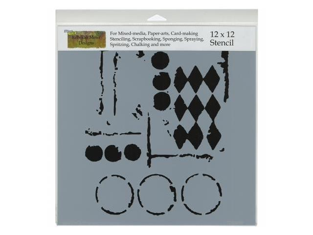 Crafters Workshop TCW-459 Crafters Workshop Template 12 in. X12 in. -Harlequin Circles