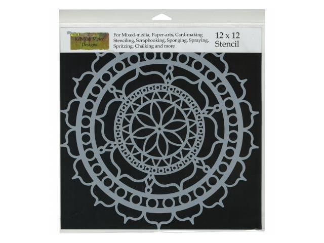Crafters Workshop TCW-461 Crafters Workshop Template 12 in. X12 in. -Rosetta