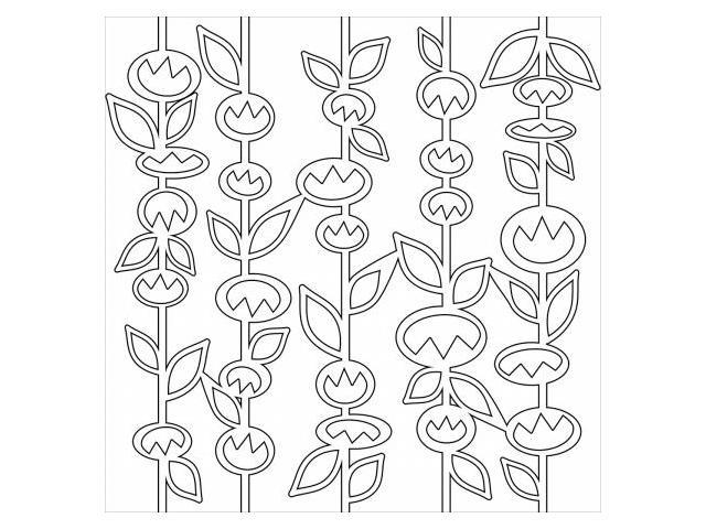 Crafters Workshop TCW-443 Crafters Workshop Template 12 in. X12 in. -Stick Flowers