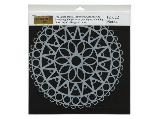 Crafters Workshop TCW-462 Crafters Workshop Template 12 in. X12 in. -Stained Glass