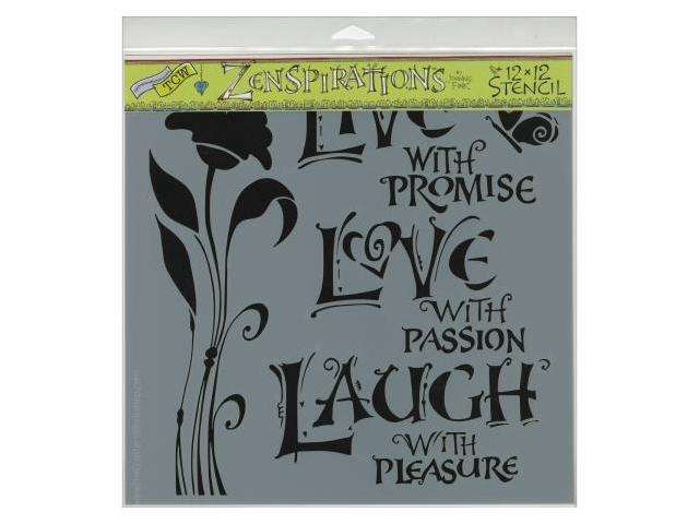 Crafters Workshop TCW-467 Crafters Workshop Template 12 in. X12 in. -Live, Love & Laugh