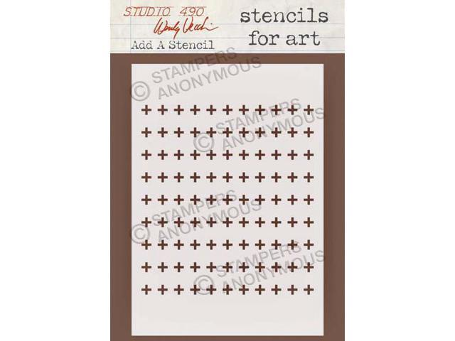 Stampers Anonymous SFA-25 Wendy Vecchi Studio Stencil Collection 6.5 in. X4.5 in. -Add A Stencil