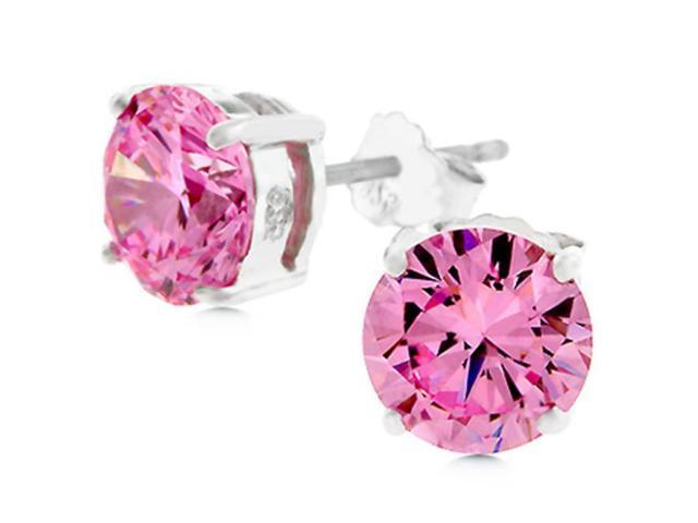 J Goodin E01220RS-S12-7MM Blossom Stud CZ Earrings
