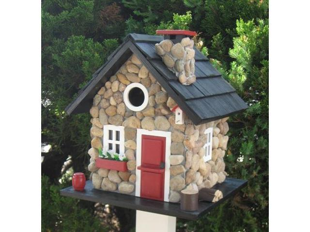 Home Bazaar Windy Ridge House - Stone/Red/Black - CC-2024