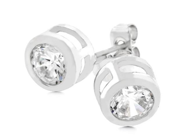 J Goodin E01043R-C01 Bezel Stud Earrings