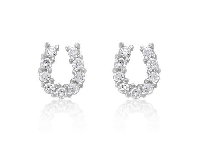 J Goodin E01280RS-C01 Lucky Horseshoe Earrings