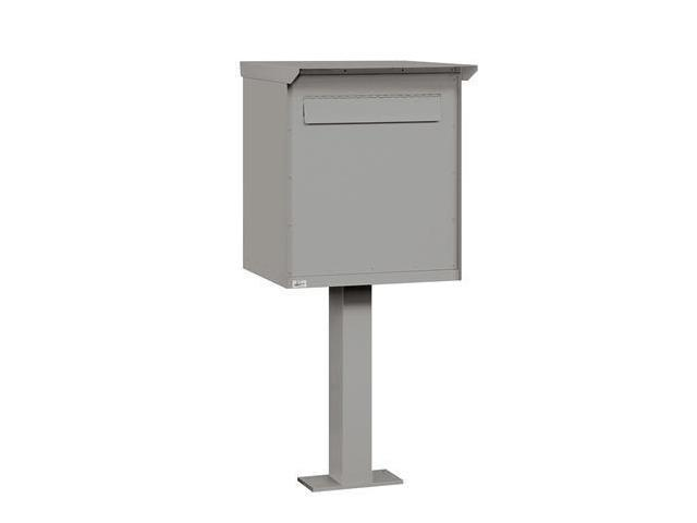 Salsbury 4276PRM Large Pedestal Drop Box In Primer