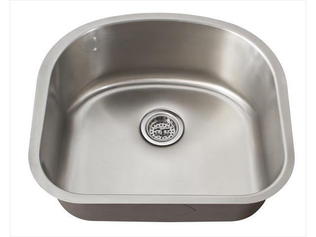 Undermount Utility Sink Stainless Steel : ... Premium 18 Gauge D-Shaped Undermount Utility Sink in Stainless Steel