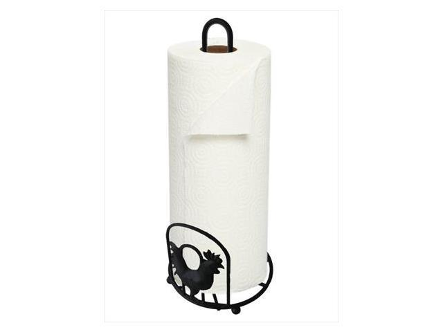 Home Basics RP01614 Rooster Paper Towel Holder,