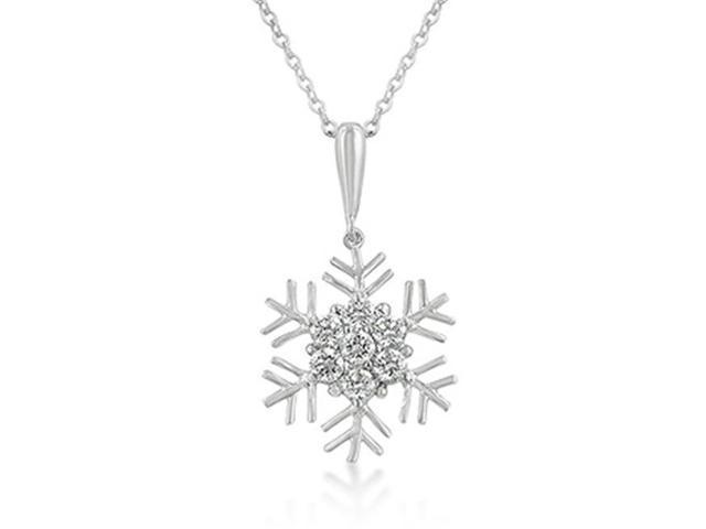 J Goodin P50111R-C01 Snowflake Cubic Zirconia Pendant