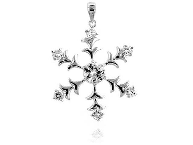 J Goodin P50059R-C01 Silver Tone Snowflake Pendant